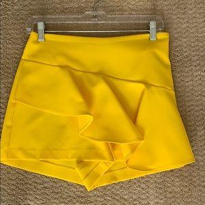 Zara Yellow Ruffle Skort